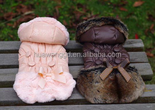 Beautiful bowknot warm pet coat