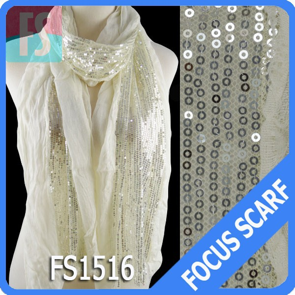 fashion Silver sequin shawl scarf 15colors