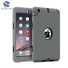 Wholesale silicone PC premium tablet back cover shockproof case for ipad mini 1 2 3