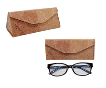 Boshiho Cork Folding Glasses Case with Magnetic Cover