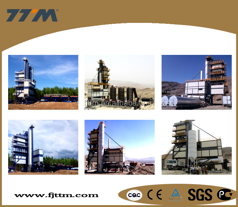 120t/h asphalt mixing plant used in road construction