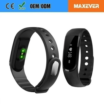 "IPX67 Waterproof 0.91"" OLED Touch Screen Pedomete Heart Reate Veryfit Smart Wristband"