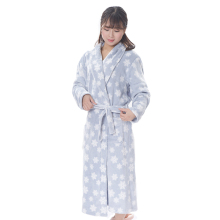 100 Polyeseter Printed Fleece Thick Arab Robe Women