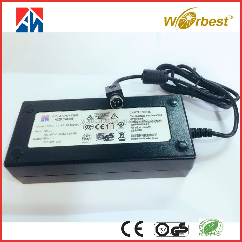 PF>0.9 AC DC adaptor 24V 5A power adapter 120W laptop power supply