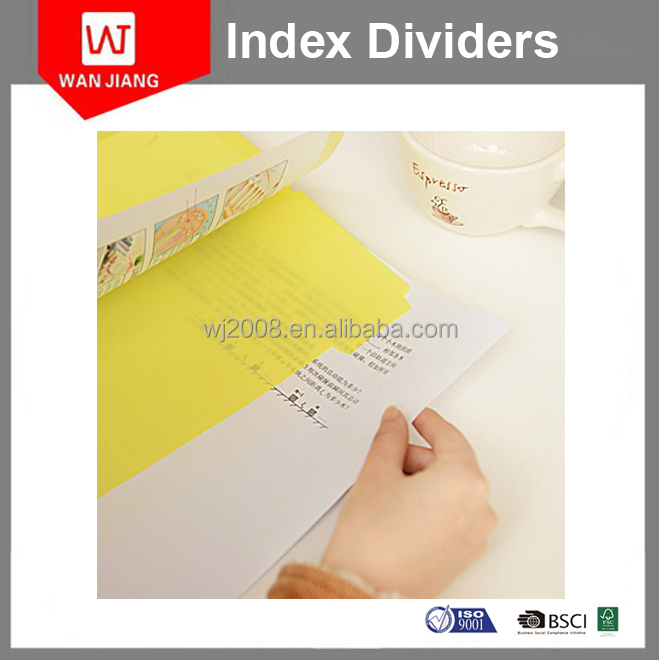 The hot selling for A4 7 tab index and divider, 7 color assorted