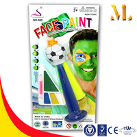 Safe for children face and body make up world cup funs national flag world cup body paint