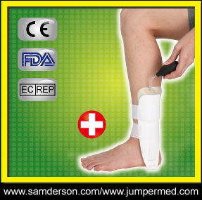 Medical and orthopedic plastic inflatable ankle support/air pump leg ankle brace