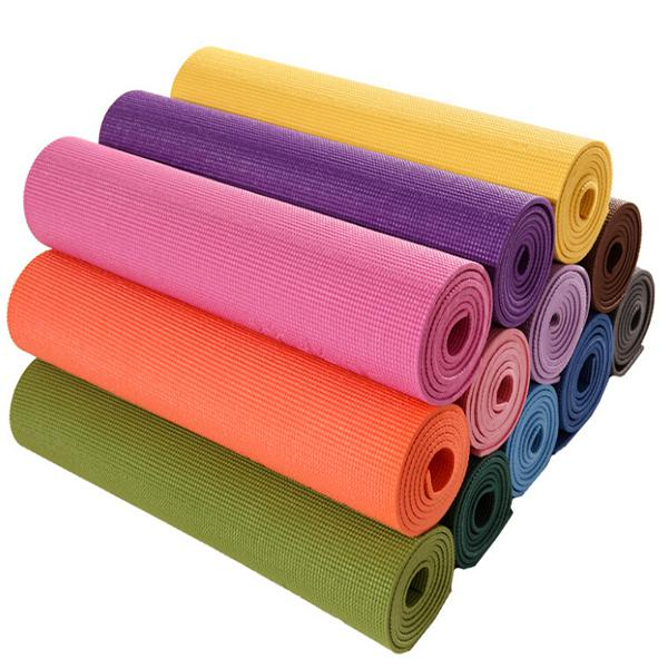 AoFeiTe Hot sale Anti-burst Eco-friendly PVC Fitness TPE 6mm red Yoga Mat