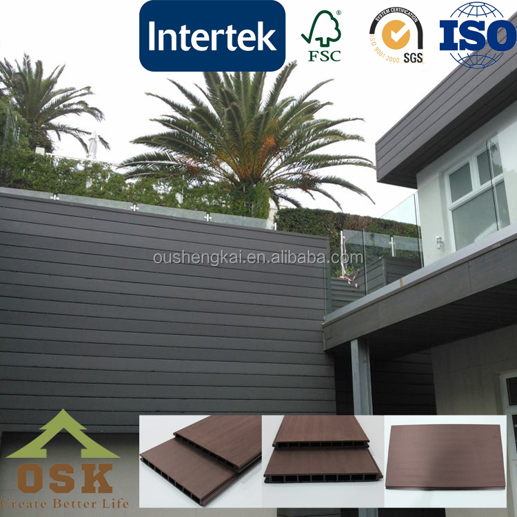 wpc outdoor fence panel waterproof anti-uv agent composite fence