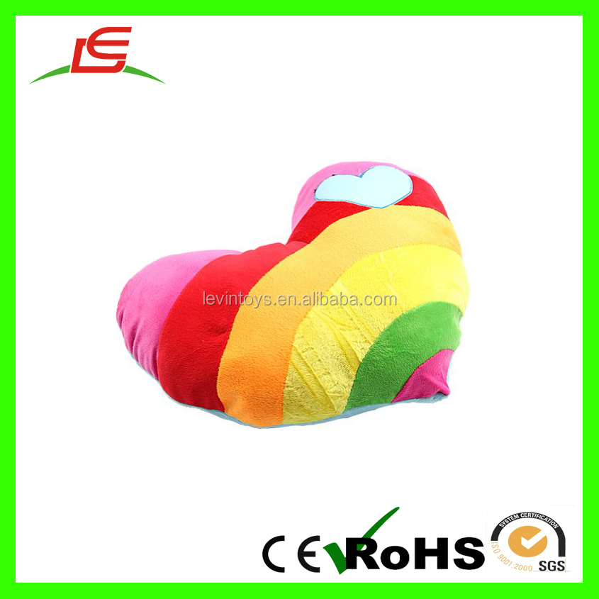 Love World Rainbow Heart Shape Plush Pillow For Household products