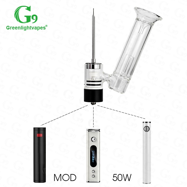 Best quality Greenlightvapes G9 510 nail vaporizer Henail with Glass Pipe ceramic nail vaporizer