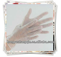 Disposable vinyl gloves powdered & powder free/clear medical vinyl gloves