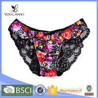 New Design Comfortable Young Girl Flower Print Sexy Young Transparent Panty Girls Pics