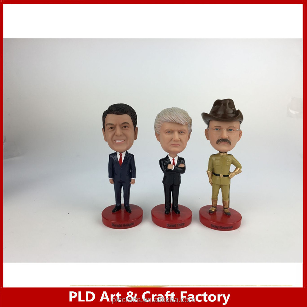 Custom promotional famous people dashboard bobble head