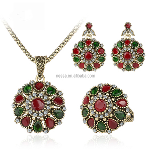 Fashion necklace and earings set wholesale LYNK-0043
