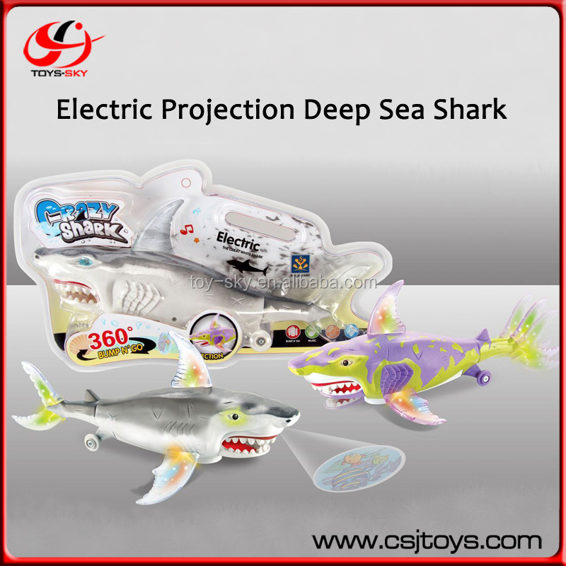 2015 New Product Electric Projection Deep Sea Shark Chenghai Battery Fish Music light Toy Kids Fish Toy