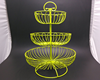 3 layer wire fruit basket candy color cup cake basket rack iron cup cake frame