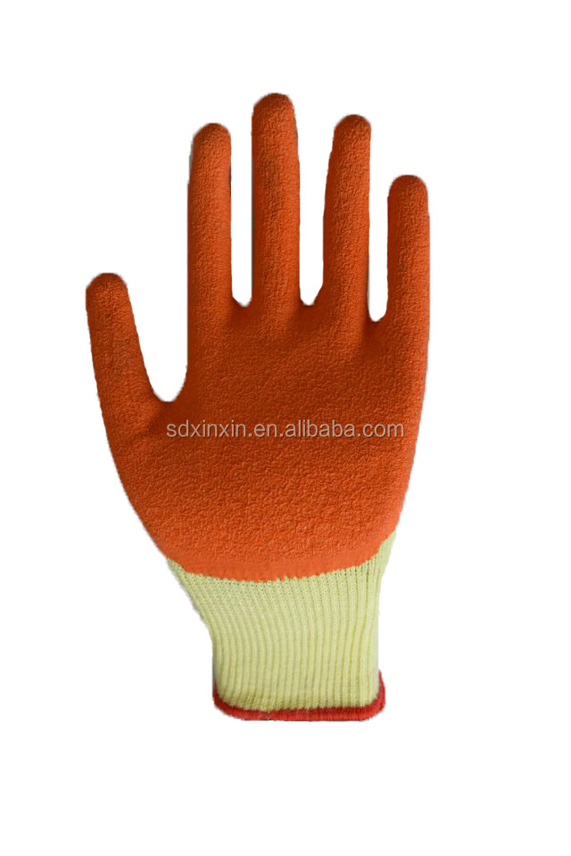 high quality Impact protection safety gloves Industrial rubble coated latex glove for work