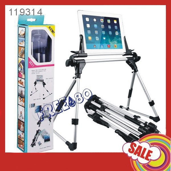 Lazy bracket Adjustable Floor / Bed Stand Mount Holder for iPad Air / Nexus7/ Samsung Galaxy Tab Note/ Kindle Ebook / Tablet PC