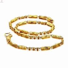 Latest design stainless steel jewellery gold necklace chain model