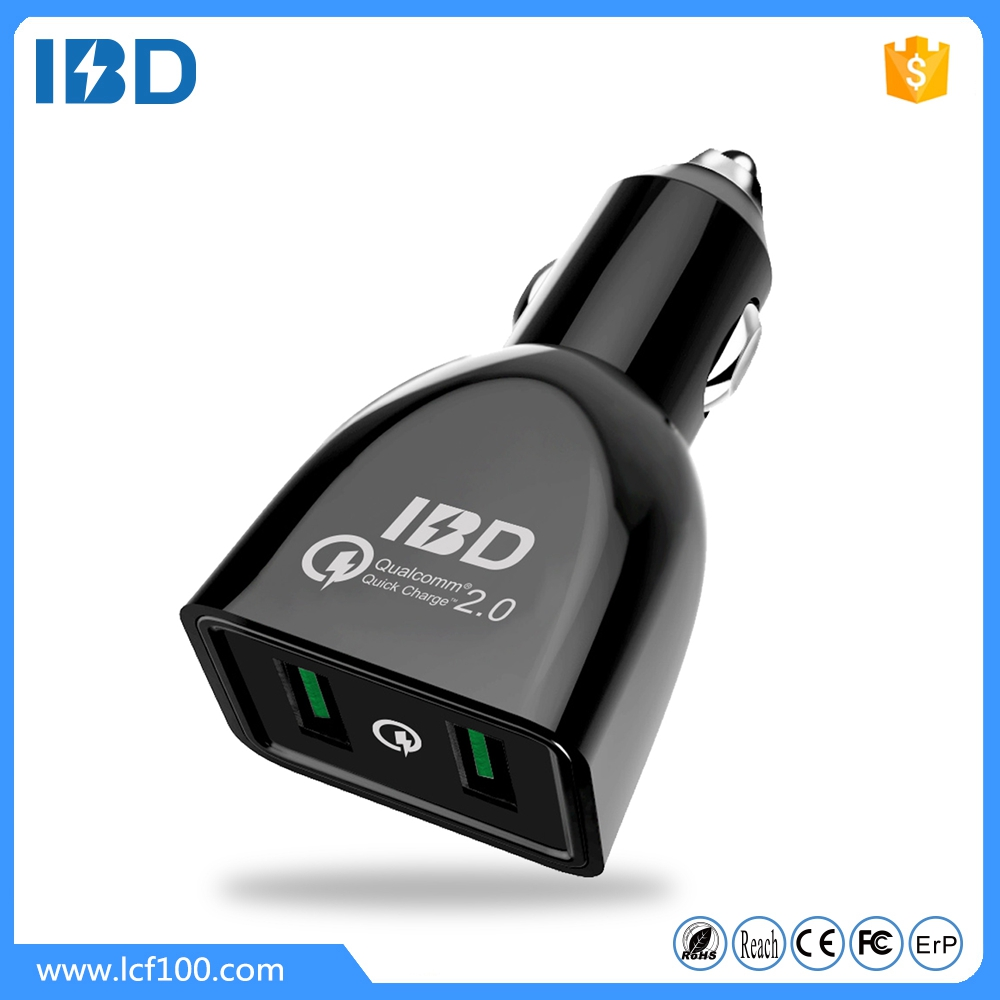 IBD Hot selling qc 2.0 fast charge 12v car battery charger