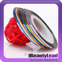 Nail art decoration striping tapes with 40 colors nail art striping tapes