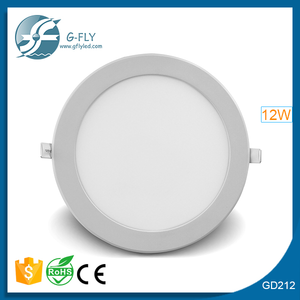 china energy saving mini led ceiling light round wall recessed led panel light 12w