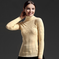Ladies turtleneck sweater long-sleeved unlined upper garment of cultivate one's morality render pullovers knitwear joker
