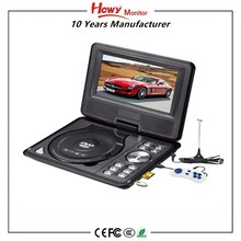 OEM monitor quality USB TV GAME SD FM home gift car video manufacture wholesale Portable Dvd Player with rechargeable Battery