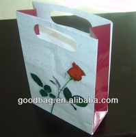 flower & grass series paper purse gift bags laminated paper bag,MJ-0103-K