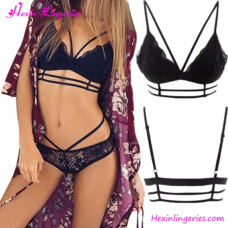 Crochet Lace Bralette Ladies Underwear Sexy Bra And Panty New Design Bralette Lingerie