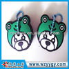 Customized animal panttern soft pvc rubber key caps