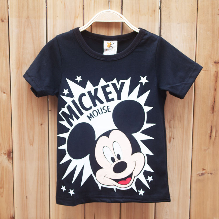 2-6 year old boy t shirt with cartoon printed
