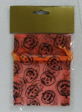Nylon Drawstring Gift Jewelry Organza Bags with Spider Printed for Halloween gift packing