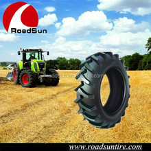 High performance tires for farm tractors used