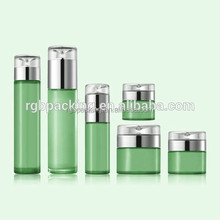 Custom Wholesale coloured glass Cosmetic bottles and jars for skin care