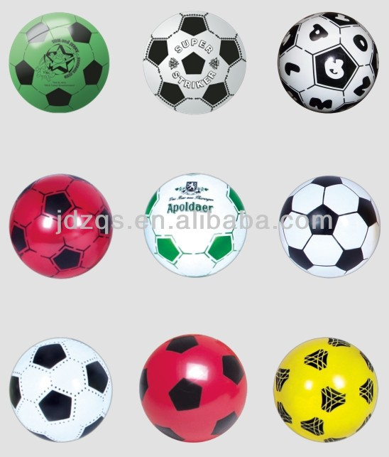 PVC Plastic Toy Inflatable Soccer Ball