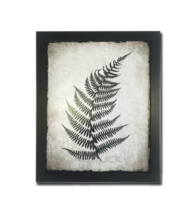 Distressed Vintage Framed Art with Gel Coating or Sanded Finished, no Glass or Plexiglass Front