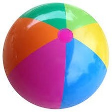 Pass EN-71 inflatable rainbow beach ball,colorful beach ball,popular kids toys