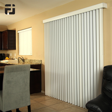 Customized Smart Home Motorised Polyester Vertical Blinds with Guide Track