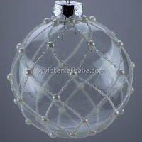 2017wholesaler Christmas Clear Glass Ball With