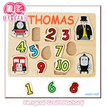 Custom made wooden alphabet letter number brain puzzle toy (Wood craft in laser cut&engraving)