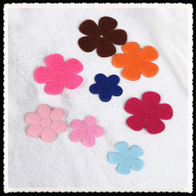 little felt flower embossed applique for wholesale