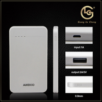 Trade assurance new design fast charging oem logo portable pocket power bank phone charger for canon
