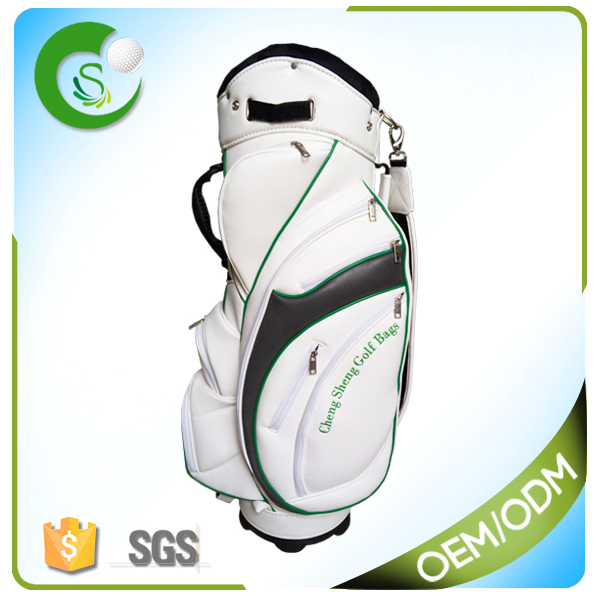 Custom Leather Golf Cart Bag
