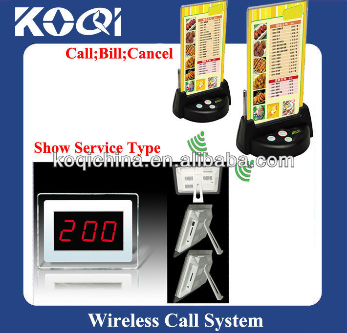 Guest Paging System K-200CD+G3+KSU with Menu Holder