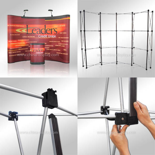 Fabric Exhibition Stand Up Comedy : New product china magnetic pop up display stand trade show