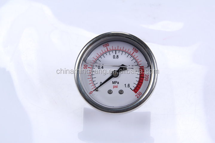 Durable LightWeight Easy To Read Clear Bourdon Sedeme ball pressure gauge