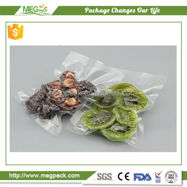 Flexible vacuum sealed plastic frozen food packaging bag for vegetable