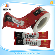 Red/Aluminium foil plastic /Coffer stick sachet packaging